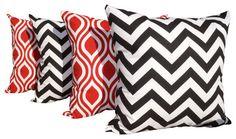 Indoor Throw Pillows, Set of 4 - Modern - Decorative Pillows ...