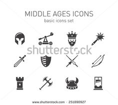http://thumb101.shutterstock.com/display_pic_with_logo/1726865/251890927/stock-vector-middle-ages-icons-set-251890927.jpg