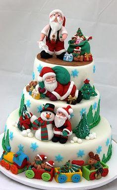 Bolos decorados para o Natal - http://www.boloaniversario.com/bolos-decorados-o-natal/