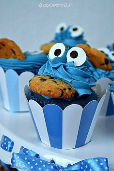 Elmo Birthday, Birthday Parties, Monster Cupcakes, Ariel, Baby Shower, Cookies, Decoration, Party, Ideas