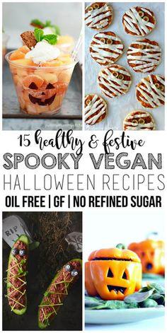 15 Healthy Vegan Halloween Recipes (Oil-Free, Gluten-Free, No Refined Sugar)