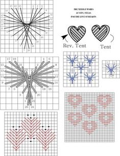 February 9- For the love of hearts, heart-shaped needlepoint stitches