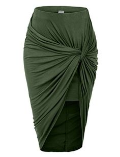 Wrap yourself in this super sexy asymmetrical banded waist wrap cut out hi low maxi skirt. Wear this super comfortable skirt to the beach as a swimsuit cover up and go for drinks at night with some se Sexy Rock, Long Green Skirt, Green Maxi, Hi Low Skirts, Long Skirts, Wrap Skirts, Maxi Skirts, Stretch Skirts, Women's Fashion Dresses