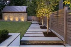 Lighting to highlight the landscaping around the patio
