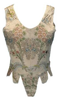 Antique corsets - C.1750 Childs stays with detachable sleeves