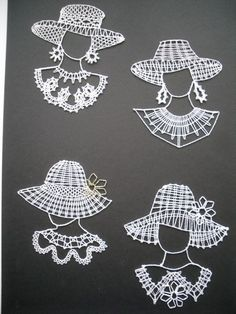 www.motanicko.estranky.cz - Fotoalbum - Paličkování - Paličkování Crochet Santa, Cute Crochet, Crochet Lace, Needle Lace, Bobbin Lace, Lace Patterns, Crochet Patterns, Fabric Stiffener, Nail String Art