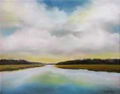 Coastal Marsh Landscape 8x10 Framed Art by NancyHughesMiller