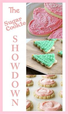 Sugar Cookie Showdown - Ive found the best recipes for a fluffy, chewy, and Swiggy cookies out there. {The Girl Who Ate Everything} #recipe #sugarcookies #valentinesday