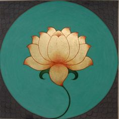 motherofhermes: When the lotus blossoms, the bees come from all around of their own accord, to gather the honey. There is a lotus in your heart and its honey is love. Make that lotus blossom! Sri Ramakrishna Art: Golden Lotus by Olivia Fraser