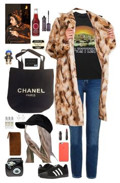 """A-led zeppelin concert with ur bf Zayn"" by onedirectionnhllz ❤ liked on Polyvore featuring Topshop, adidas, ASOS, Chanel, tarte, Anna Sui, Polaroid, Hadaki, Le Labo and Burberry"