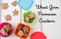 Make these fun and healthy wheat germ crackers instead of prepackaged snack food. An easy recipes using cookie cutters that's great for kids and adults.