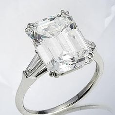 A diamond single-stone ring, by Harry Winston