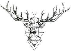 Geometric Deer by DarkHorseBailey