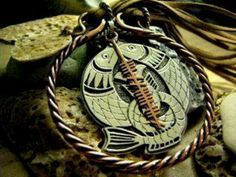 Celtic Salmon of knowledge pendant