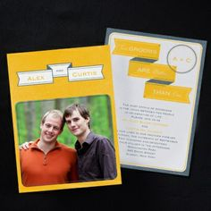 2 Grooms are better than one Wedding Invitation | Free Spirit Invitations