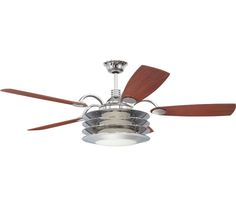 Ellington ROU54CH5LKRW Rousseau 54 Inch Chrome Ceiling Fan