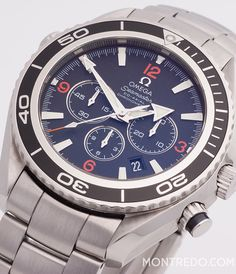 "Omega Seamaster Planet Ocean Chronograph - classic luxury watch for men - Montredo Online Shop - ""The Unit"" Style"