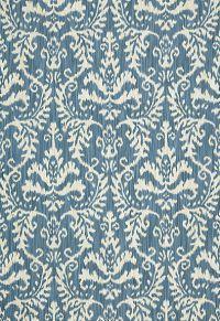 54913 Tiraz Cotton Ikat Indigo by F Schumacher