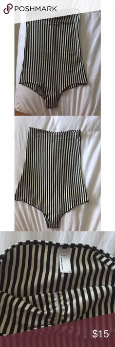 American apparel black and white striped bodysuit Strapless, never worn, just tried on!! Super cute! American Apparel Other