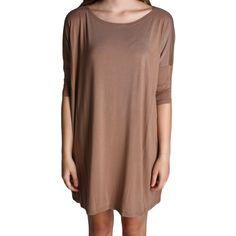 Mocha Piko Tunic Half Sleeve Dress