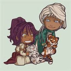 Prince Soma and Agni with Tigers <3