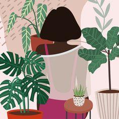 Black Woman, Plants, Illustration, Modern, Empowerment Brand Story, Get Excited, Black Women, Identity, Branding Design, Graphic Design, Woman, Creative, Illustration