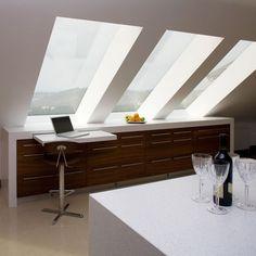 Skylights open a small attic.