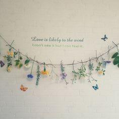 壁/天井/しただけインテリア/しただけ/お花を紐で吊るしただけ/フラワーインテリア…などのインテリア実例 - 2016-05-21 17:24:47 | RoomClip(ルームクリップ)