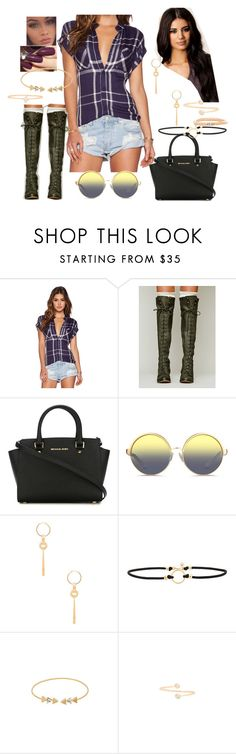 """""""Bez tytułu #15125"""" by sophies18 ❤ liked on Polyvore featuring Rails, Free People, MICHAEL Michael Kors, Matthew Williamson, Elizabeth and James, Vanessa Mooney, Wanderlust + Co and Amarilo"""