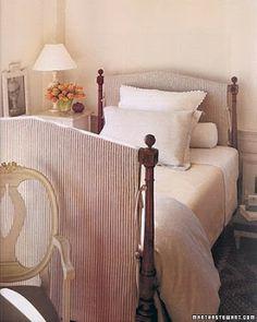 Slipcovered bed frames