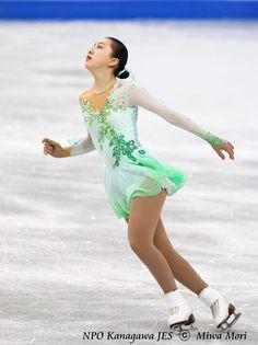 Green Figure Skating / Ice Skating dress inspiration for Sk8 Gr8 Designs.