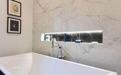 Minoli Marvel Calacatta Extra is an extraordinary Calacatta porcelain tile, inspired by prestigious and natural Italian marble. Italian Marble, Room Tiles, Marble Effect, Marble Tiles, Calacatta, St Joseph, Black Marble, Porcelain Tile, Bathroom Furniture