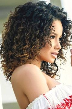 If you would like your hair to remain set for the whole day, just rub in some gel. If you're blessed with naturally curly hair, hair styles 20 Fun and Sexy Hairstyles for Naturally Curly Hair - Fashiotopia Curly Hair Styles, Haircuts For Curly Hair, Long Curly Hair, Natural Hair Styles, Curly Girl, Curly Medium Length Hair, Layered Curly Haircuts, Short Layered Curly Hair, Naturally Curly Haircuts