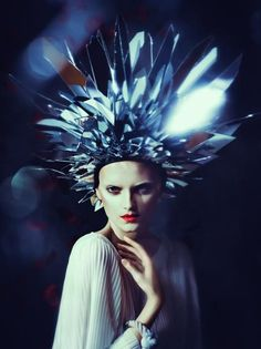 glass shards headdress