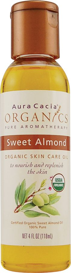 Aura Cacia Organic Aromatherapy Oil Sweet Almond - This also works in my natural hair wonderfully as it softens it and helps to maintain moisture by sealing my ends.  Love it.