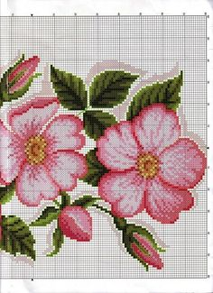 This Pin was discovered by Iry Just Cross Stitch, Cross Stitch Borders, Cross Stitch Flowers, Cross Stitching, Cross Stitch Patterns, Crochet Cross, Filet Crochet, Diy Embroidery, Cross Stitch Embroidery