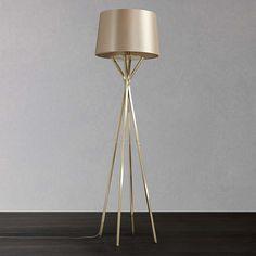 John Lewis Wilfred Floor Lamp, Brass at John Lewis