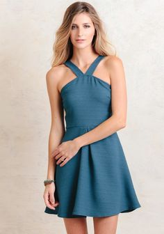 Dancing With You Dress In Teal