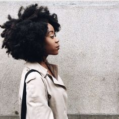 gorgeous texture + trench #naturalhair