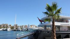 Yacht in der Marina Port Vell