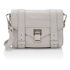 Proenza Schouler Women's PS1 Mini-Crossbody Bag (1 190 AUD) ❤ liked on Polyvore featuring bags, handbags, shoulder bags, grey, mini crossbody purse, shoulder strap bags, mini crossbody handbags, mini handbags and crossbody shoulder bags