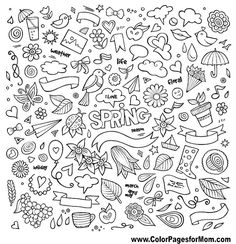 natur spring Nature spring hand drawn symbols and vector doodle - by kostenkodesign on VectorStock Bullet Journal Art, Bullet Journal Ideas Pages, Bullet Journal Inspiration, Pages Doodle, Easy Doodle Art, Doodle Sketch, Doodle Drawings, Easy Drawings, Notebook Doodles