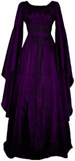 New Women Fashion Vintage Style Women Medieval Dress Gothic Dress Floor Length Women Cosplay Dress Retro Long Gown Dress Halloween Party Kostüm, Halloween Dress, Halloween Cosplay, Halloween Costumes, Halloween Masquerade, Pirate Costumes, Witch Cosplay, Women Halloween, Long Gown Dress