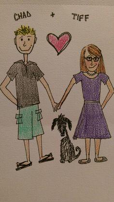 Chad, Julien, & Tiffany cartoonized by Tiffany Frey.