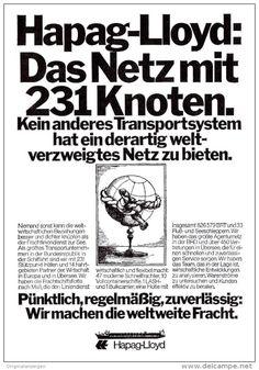 Original-Werbung/ Anzeige 1976 - HAPAG-LLOYD - ca. 115 x 160 mm