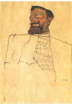 Schiele: Portrait of the industrialist Carl Reininghaus.