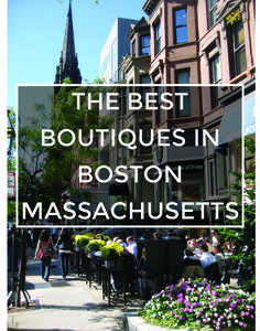 The Best Boutiques in Boston, Massachusetts