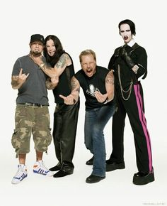 """FRED DURST of LIMP BIZKIT, OZZY OSBOURNE, JAMES HETFIELD of METALLICA and MARILYN MANSON  """"The World's No:1 Online Heavy Metal T-Shirt Store"""". Check it out our Metalhead Clothing and Apparel Store, Satanic Fashion and Black Metal T-Shirt Stores; www.HeavyMetalTshirts.net"""
