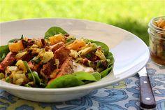Seared Tuna Fish Salad with Roasted Fennel and Orange Salsa Recipe
