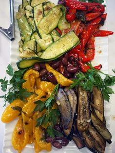 Grilled vegetables from Trattoria Uliveto in Orcutt, California (Santa Maria Valley)
